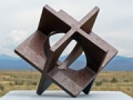 \'Squared Circle\'  1997 / steel        © 2011 / David Larson