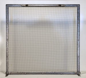 Fireplace Screen / Forged Steel / Rectangular
