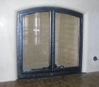 Ironwork / 'Kiva' Fireplace Glass Doors / Forged Steel & Glass