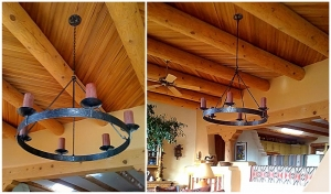 Ironwork / Ring Chandelier / Forged Steel / Santa Fe, NM / Old Agua Fria Road