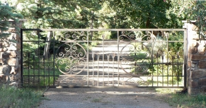 Ironwork / Forged Steel Entry Gate / Tesuque, NM