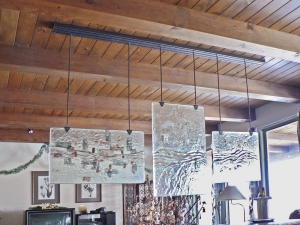 Ironwork / Sliding Glass Panels Ceiling Track / Glass