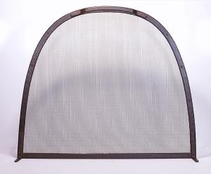 Fireplace Screen / 'Kiva' Design / Forged Steel