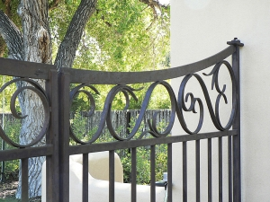 Entry Gates / Forged & Welded Steel / La Mesita Ranch / Nambe, NM