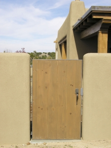Wall Gate / Welded Steel & Wood / Santa Fe, NM / Las Campanas