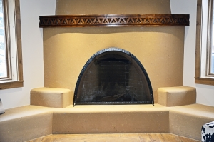 Ironwork / 'Kiva' Fireplace Screen / Forged Steel / Taos, NM / Blake Hotel