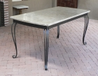 Ironwork / Forged Iron & Marble Table