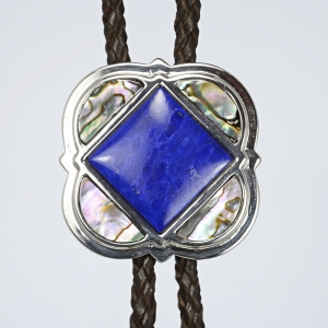 Bola Tie / Silver 925 / Lapis Lazuli / Shell / © David Larson