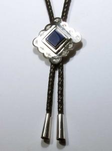 Bola Tie sterling silver/lapis lazuli ©2011/David Larson
