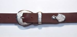 Buckle Set / 3 Piece Ranger Set / Dark Patina & Texture / Silver 925, 935 / ©David Larson