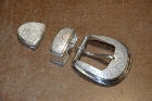 Buckle Set / 3 Piece Ranger Set / Silver 925 / ©David Larson