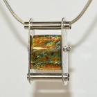 Glass Bead & Silver Pendant