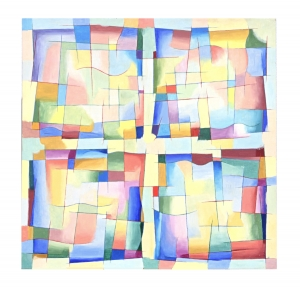 'Four (Abstract Squares 2)' 1994 / Oil Painting / ©David Larson