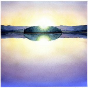 'Calm Lake #1' 2006 / watercolor / ©David Larson