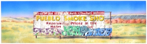 'Pueblo Smoke Shop #1' 2005 / watercolor ©David Larson