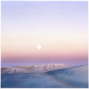 'Moonrise Over Truchas #1' 2006 / watercolor / ©David Larson