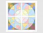 Circles Squares (Abstract Squares #1) 1991 / Oil Painting / ©David Larson