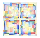 \'Four (Abstract Squares 2)\' 1994 / Oil Painting / ©David Larson