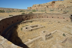 Kiva at Hungo Pavi Ruins at Chaco Canyon NHP