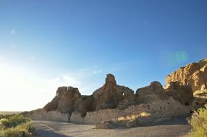 Ruins of the Great House at Pueblo Bonito