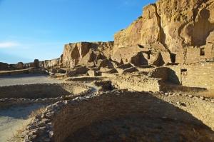 Kivas, Ruins, and Cliffs at Chaco Canyon NHP
