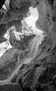 In Travertine Canyon