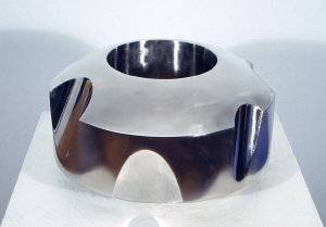 "'Clipped Ring' David Larson / 2003 / stainless steel / 13"" x 8"""