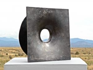 "'Forged Ring #2' David Larson / 1999 / steel / 14"" x 14"" x 5"""
