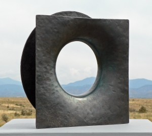 "'Forged Ring #1' David Larson / 1999 / steel / 15"" x 15"" x 4"""