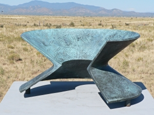 "'Bronze Sweep' 1996/ David Larson / bronze / 16"" x 13"" x 8"""