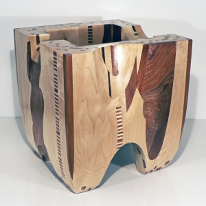 "'Red on White' David Larson / 2008 / hardwood / 14"" x 14"" x 16"""