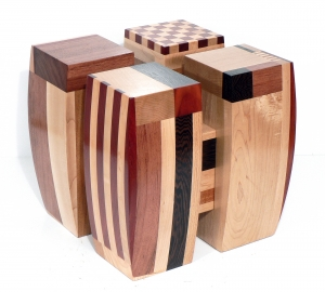 "'Four Square' David Larson / 2008 / hardwood / 12"" x 12"" x 12"""