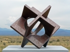 "'Squared Circle' David Larson / 2000 / steel / 14"" x 14"" x 13"""