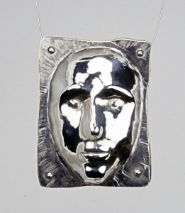 formed silver pendant