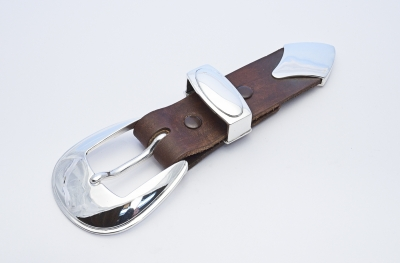 silver buckle set