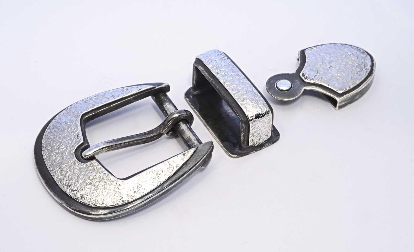 silver buckle set