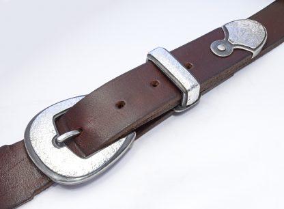 silver belt buckle set