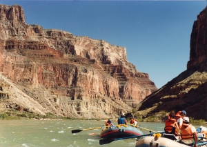 photo of rafters in grand canyon